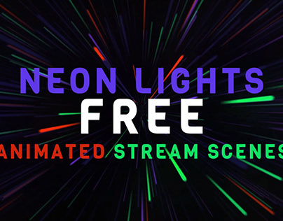 Neon lights animated stream scenes