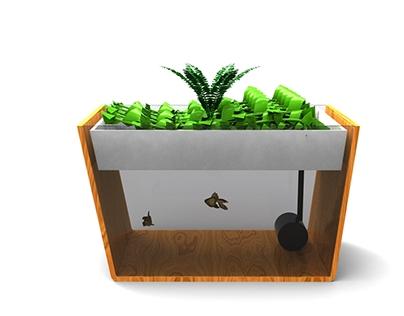 Concepto de Diseño de Huertas acuapónicas para interior