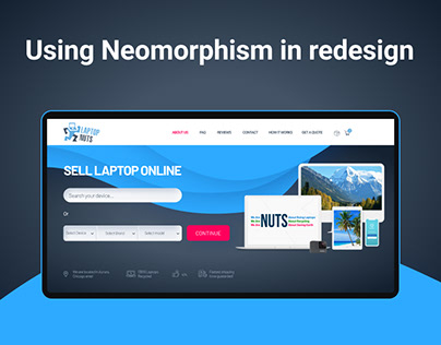 Using Neomorphism   Ecommerce site redesign