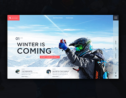 Ski Now - ui concept