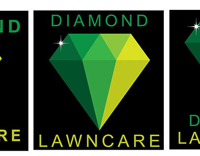 Diamond Lawncare Logo Layouts