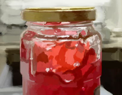 - Painting a digital Bottle of Jam in Photoshop