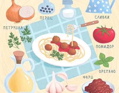 Рецепт спагетти