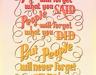 People will never forget - poster