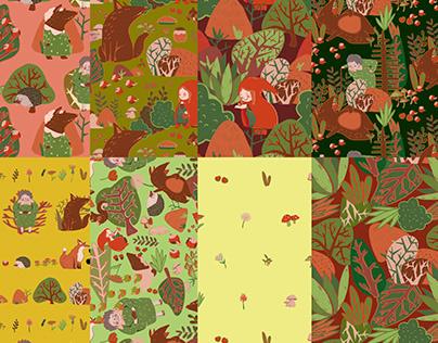 Patters textiles de Caperucita Roja