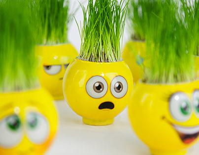 Cimoji Grass Heads
