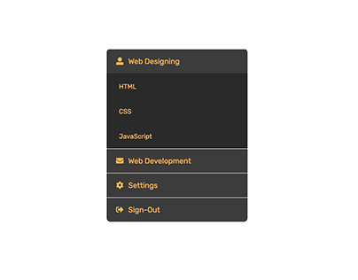 CSS only Accodion Menu