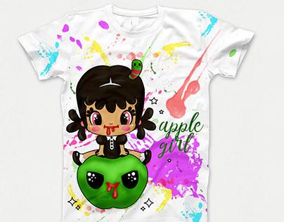 "Принт ""Apple girl"""