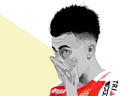 Illustrazione di Stephan El Shaarawy