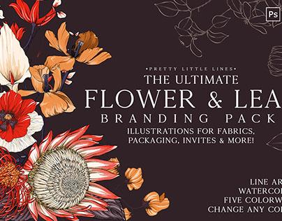 Flower Branding By Design Cuts, Pretty Little Lines