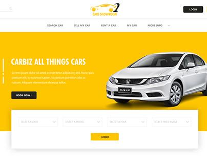 Cars dealers web design #modern web design