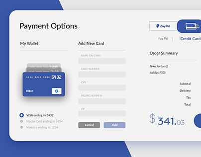 Card Checkout Screen