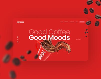 Nescafe Landing Page   Concept Design
