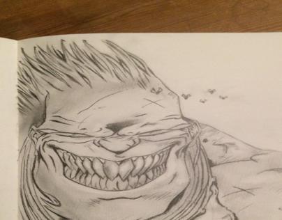 Dessins crayon personnages de la BD Lanfeust