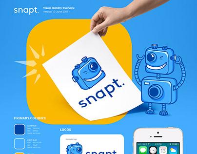 Snapt logo and brand mascot