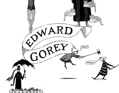 Edward Gorey Decorative Plates