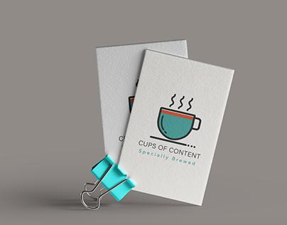 Logo Design Cups of Content