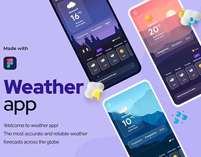 Weather forecast app design | UI UX Kit
