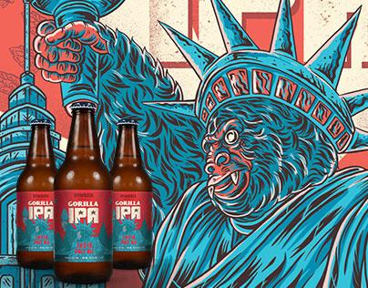 Label illustrations for Bombata Beer