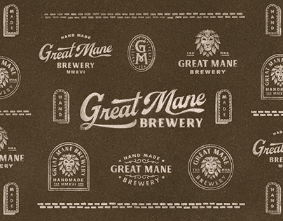 Great Mane Brewery Branding