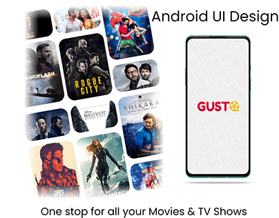 GUSTO APP ANDROID UI DESIGN