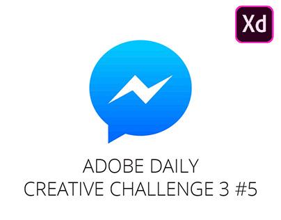 Daily Creative Challenge 3 #5 - FB Messenger Dark Mode