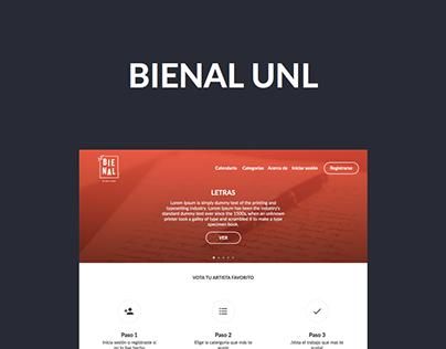 Diseño web Bienal UNL