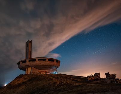 Shooting stars over Buzludza