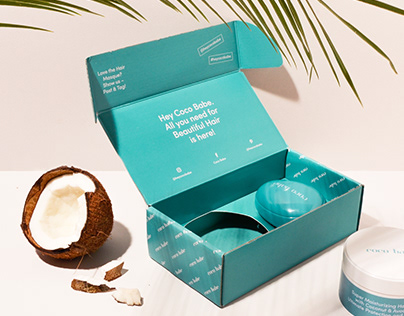 Coco Babe - natural hair mask set branding