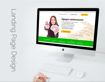 Landing Page Design credit money