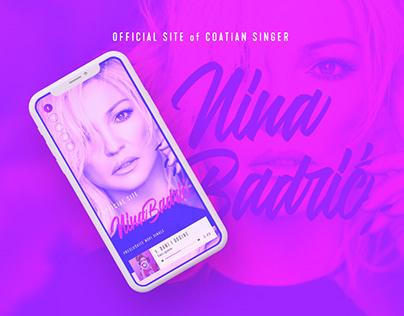 Concept of Nina Badric Official Website