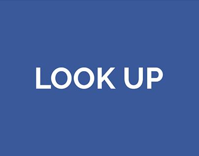 Look Up Kinetic Typography Animation