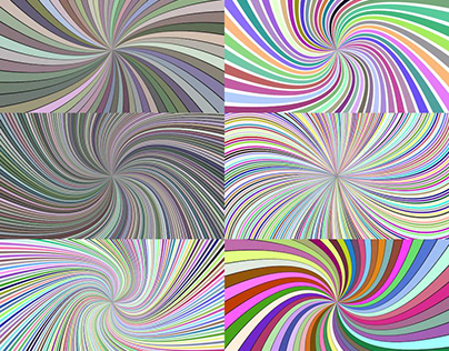 7 Multicolored Spiral Backgrounds