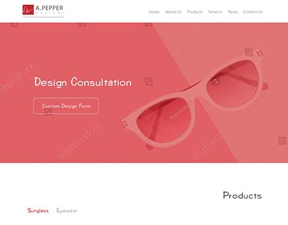 Retail homepage