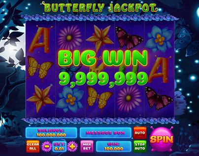 "Online slot machine – ""Butterfly Jackpot"""