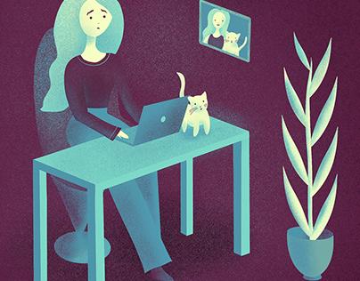 Digital illustration using Procreate