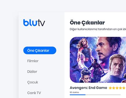 blutv - UI Design Concept