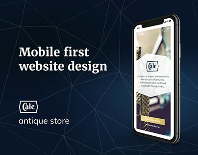 Antique store. Mobile First website design