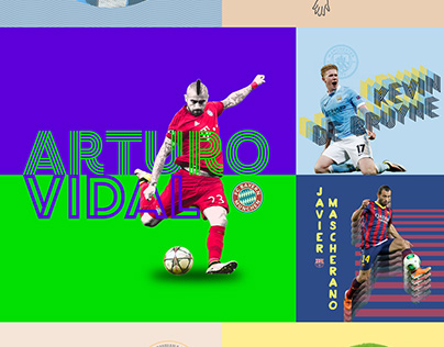 100 Day Project - Day 1–20 Footballers X Graphic