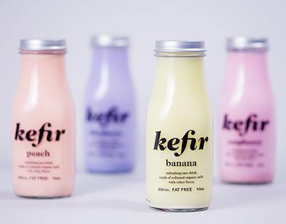 Kefir – milk drink packaging