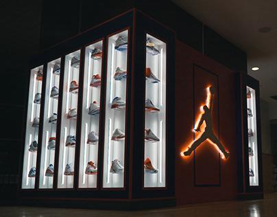 University of Florida // Jordan Shoe Display