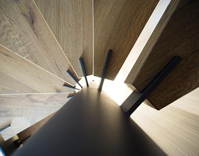 Stairs in a single family house Bielsko-Biala