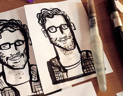 TYPEN – live Portraitzeichnen