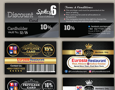 Privilege Card / Discount Card Design