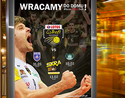 whitegraphic | LOTOS Trefl Gdańsk | poster