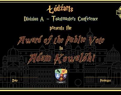 Łódźarts - Certificates