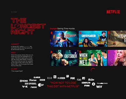 Netflix, The Longest Night Advertising Board