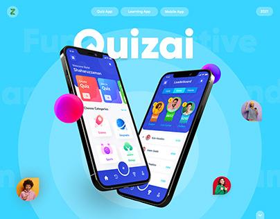 Quizai - Quiz/Learning iOS Mobile App UI