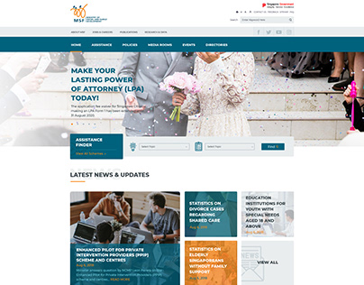 Ministry of Social and Family Development Website UI