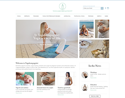 Website design for Yoga Compaigniet